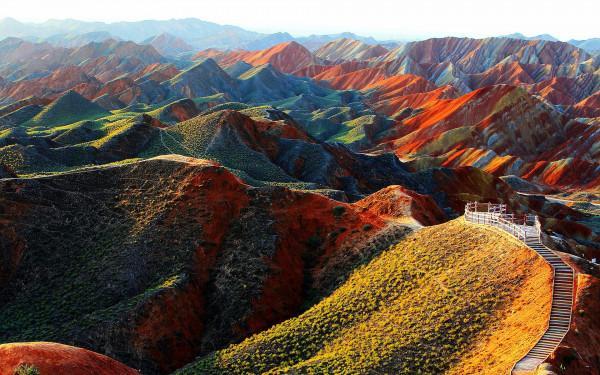 Vùng địa chất núi Zhangye Danxia9