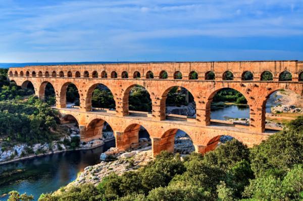 Cầu Pont du Gard, Pháp.
