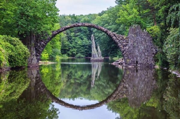 Cầu Rakotz Brucke, Đức.1