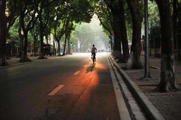 Một chiều tàn, lang thang qua từng con phố nh