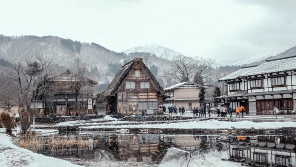 làng cổ Shirakawago, Nhật Bản.