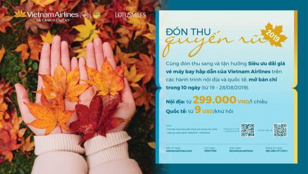 Mùa thu quyến rũ cùng vé máy bay giá rẻ Vietnam Airlines