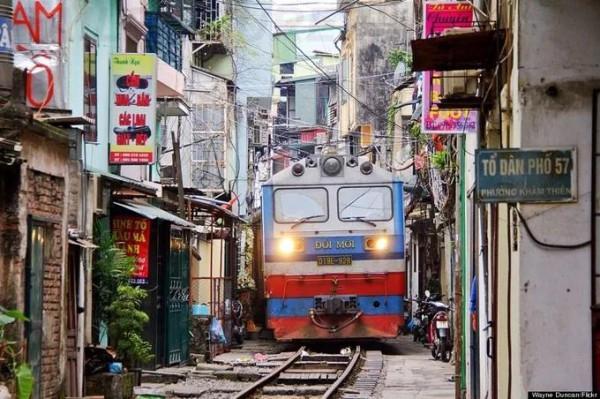 tuyến đường sắt xuyên phố cổ Hà Nội