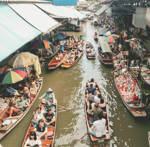 Chợ nổi Khlong Lat Mayom1