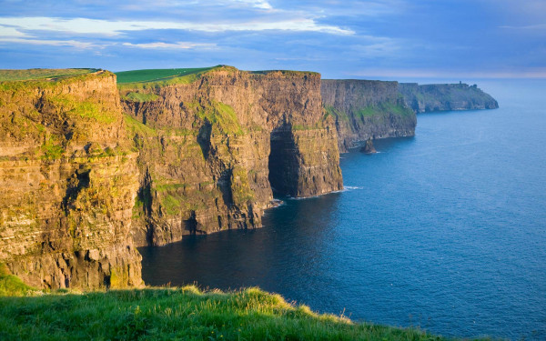 Evening light on the Cliffs of Moher