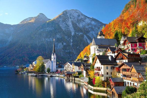 Cảnh sắc thần tiên của thị trấn cổ Hallstatt, Áo