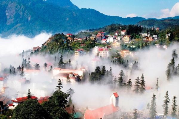Vé máy bay siêu khuyến mãi 99k vi vu thành phố sương mù Sapa