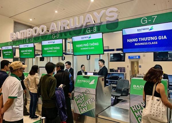 Quầy thủ tục checkin của Bamboo Airways