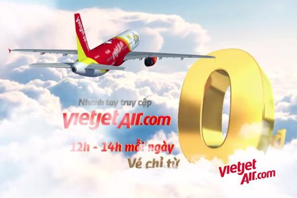 Vé máy bay Vietjet 0 đồng