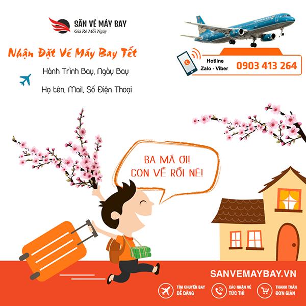 Chia sẻ kinh nghiệm săn vé máy bay Tết