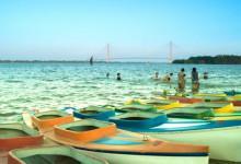 Giải nhiệt mùa hè tại bãi biển nhân tạo Cần Thơ